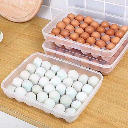 Corazón altavoz 34huevos soporte caja de almacenamiento contenedor de Picnic Cocina Refrigerador fresh-keeping,...