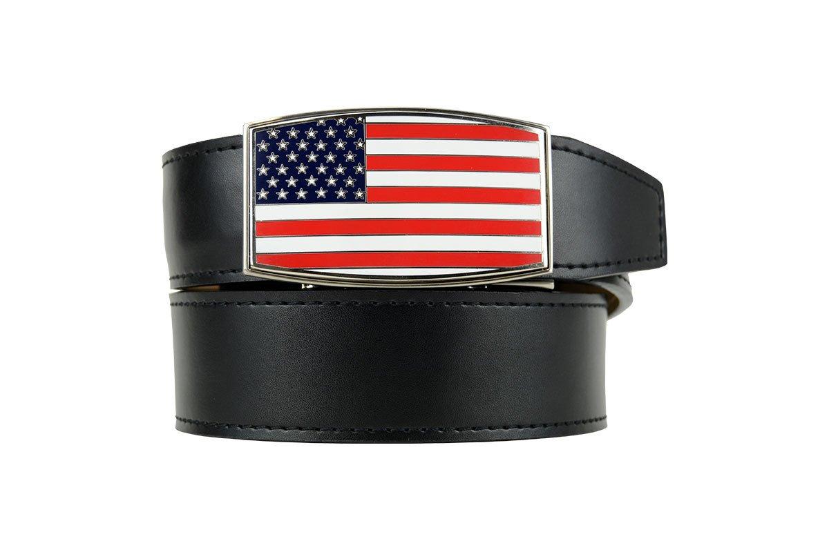 Nexbelt Heritage Series Aston USA Black Smooth Leather Dress Belt by Nexbelt