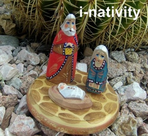 (Nativity Hand carved 4 pcs set Jesus Christ Virgin Mary Russian made)