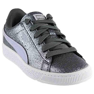 : PUMA Kids Womens Basket Holiday Glitz (Little