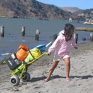 Amazon Com Wheeleez Wz1 Bcf M Mini Folding Beach Cart By