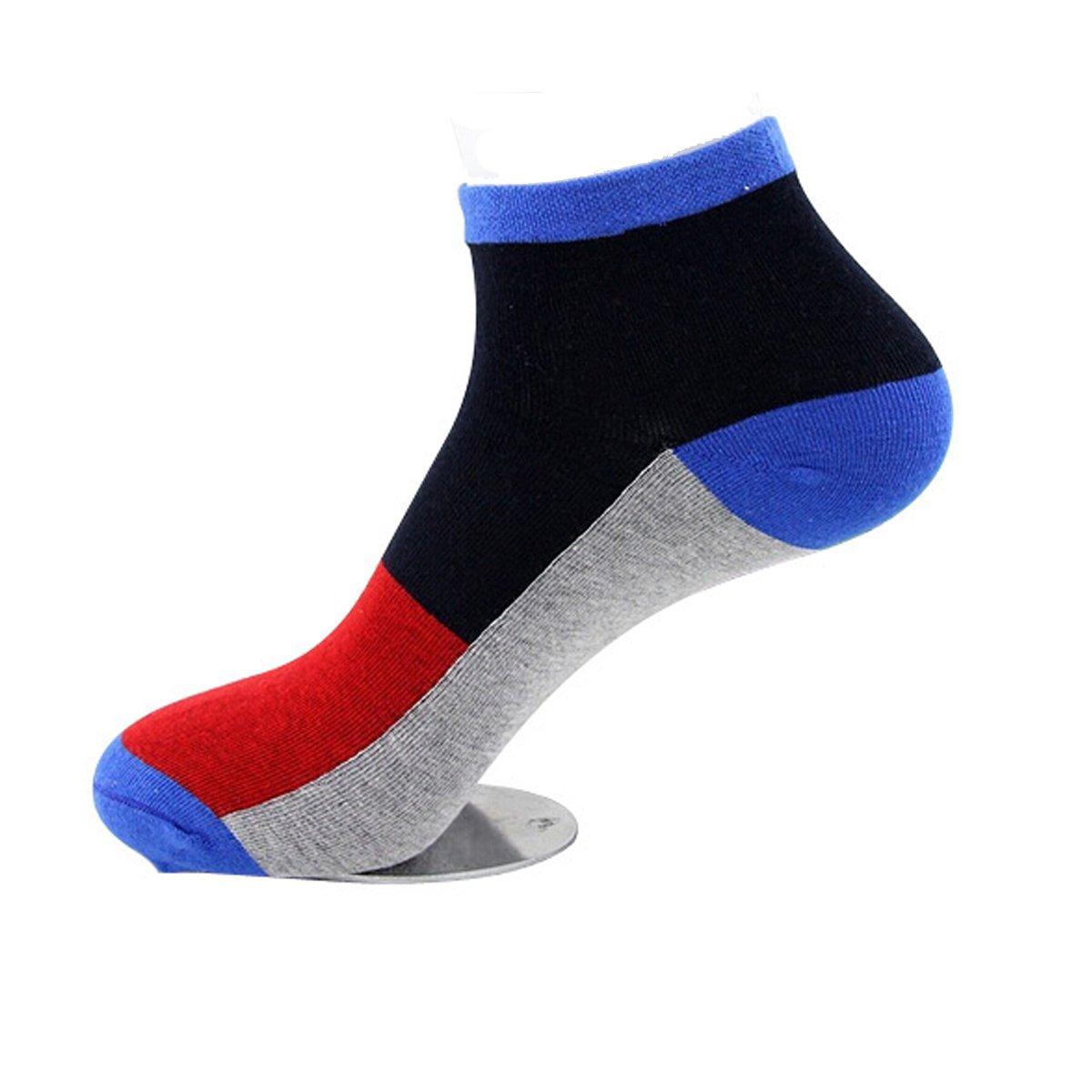LONGQI Chaussettes de Bateau pour Homme Faible Couper Solide Coton antidérapant Courte Tube Chaussettes de Sport