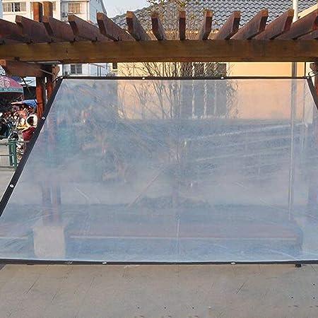 WUHX Película de plástico Transparente Gruesa Ribete a Prueba de Lluvia Aislamiento a Prueba de Viento Toldo para jardín Flores Plantas Porche Pérgola y Barbacoa,4 * 7m: Amazon.es: Deportes y aire libre