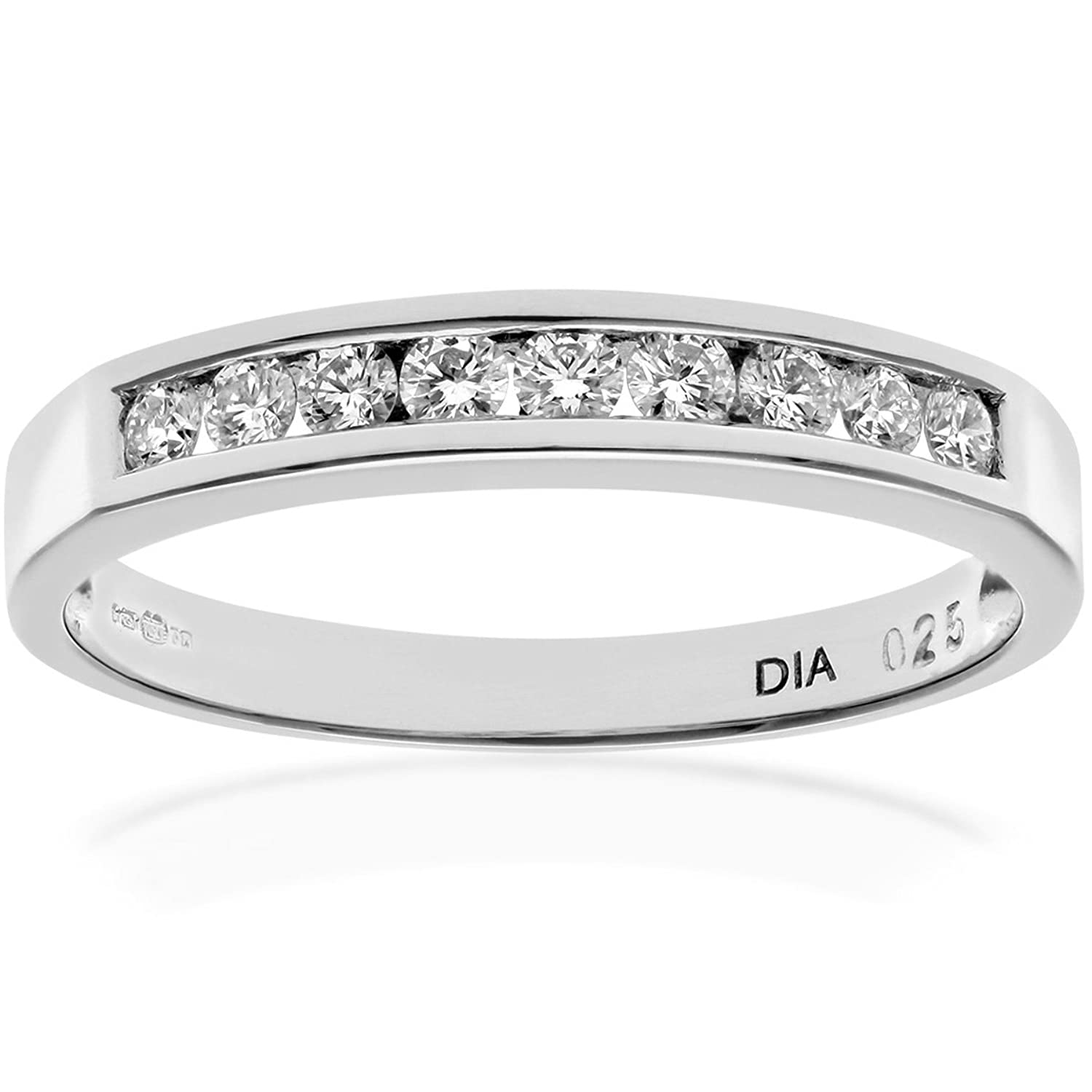 naava platinum channel set half eternity ring ij i certified