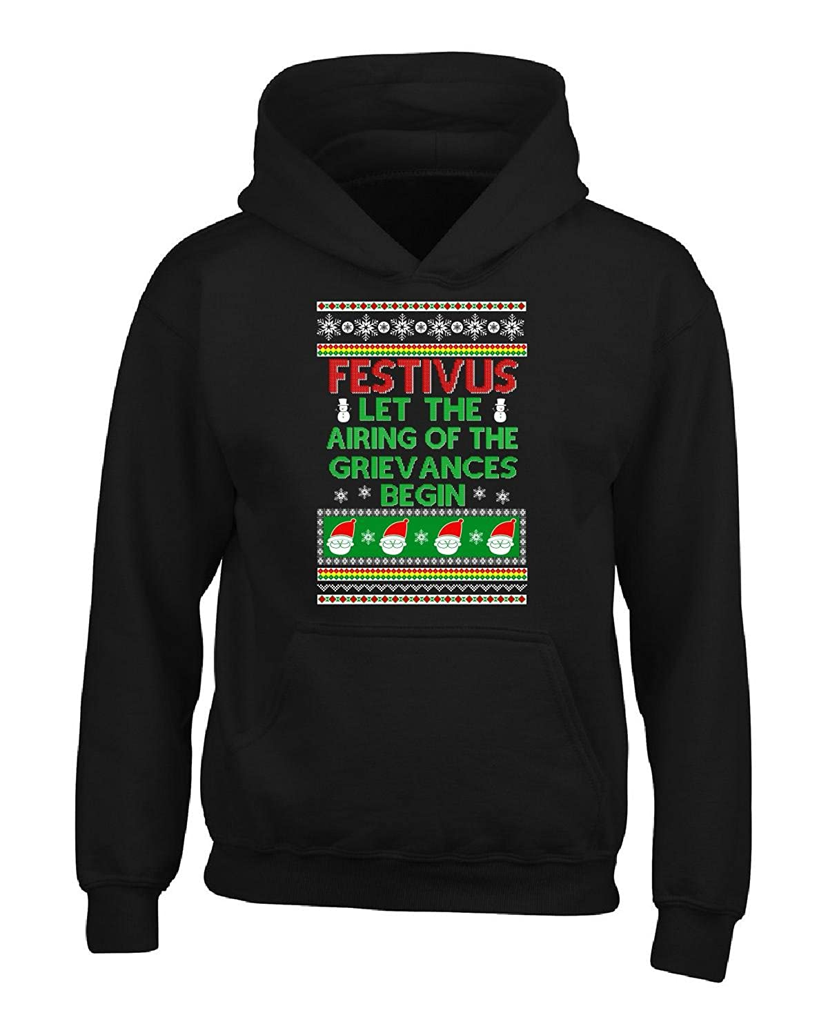 Top Festivus Airing Of Grievances Begin Ugly Xmas Sweater Style - Adult Hoodie free shipping