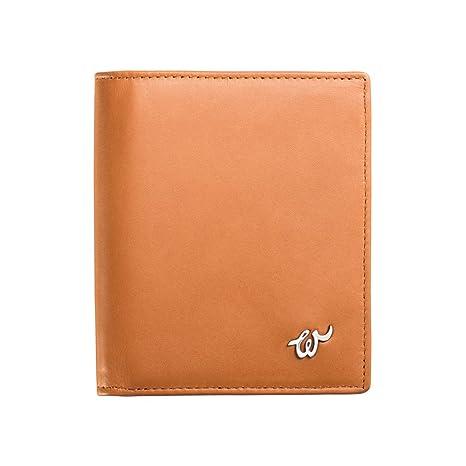 Woolet RFID - cartera con bloqueo RFID para seguridad de dinero, cuero coñac, hecho