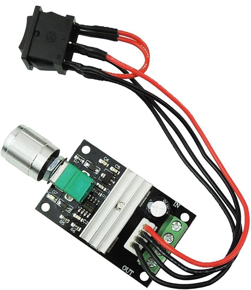 LEDMOMO 1203BB 6V 12V 24V 3A 80W DC Motor Speed Controller (PWM) Adjustable Reversible Motor Driver Switch