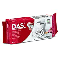 DAS Air-Hardening Modeling Clay, 1.1 Lb. Block, White Color (387000)