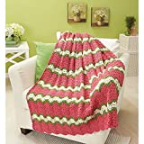 Herrschners Spring Fusion Throw Crochet Afghan Kit