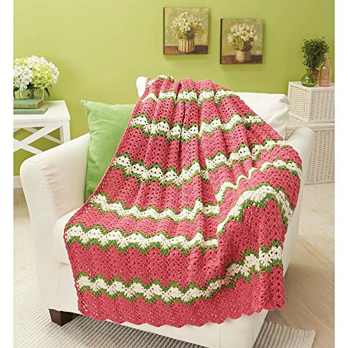 Herrschners Spring Fusion Throw Crochet Afghan Kit by Herrschners®