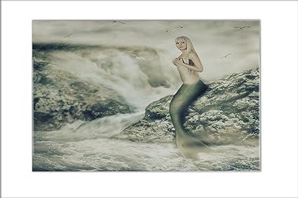 Piastrella sogni vintage sexy sirena ceramica stampato cm