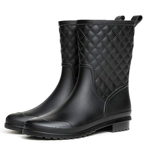 Hishoes Botas de Agua Mujer Impermeables Botas de Lluvia Bota de Goma: Amazon.es: Zapatos y complementos