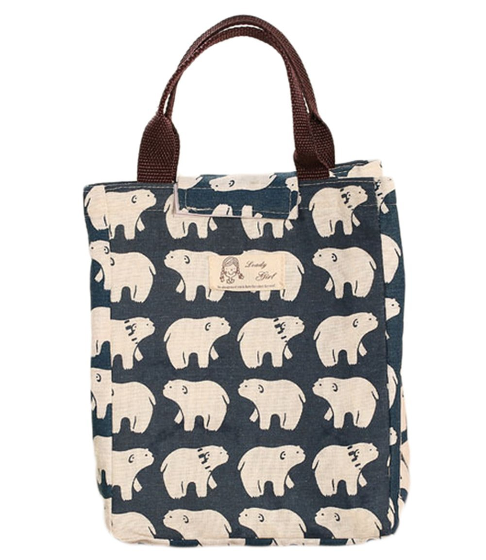 Weimay Canvas Lunch Bag School Lunch Tote for Travel and Picnic