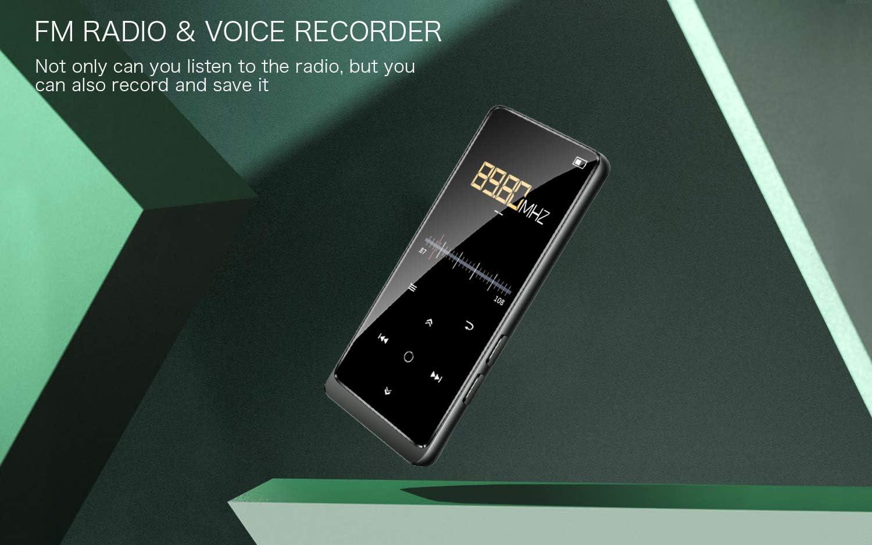 Supporto espandibile fino a 128G Cuffie e fascia da braccio inclusi con Radio FM//Registratore Vocale Supereye 2.4 Pollici Portatile Lossless Sound Lettore MP3 32GB Lettore MP3 con Bluetooth 4.2