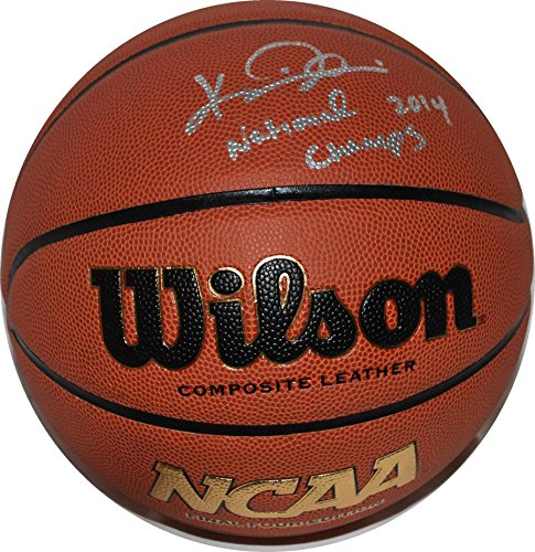 Composite Coach - Kevin Ollie Signed Basketball - Coach Official Composite Connecticut Huskies - Autographed College Basketballs