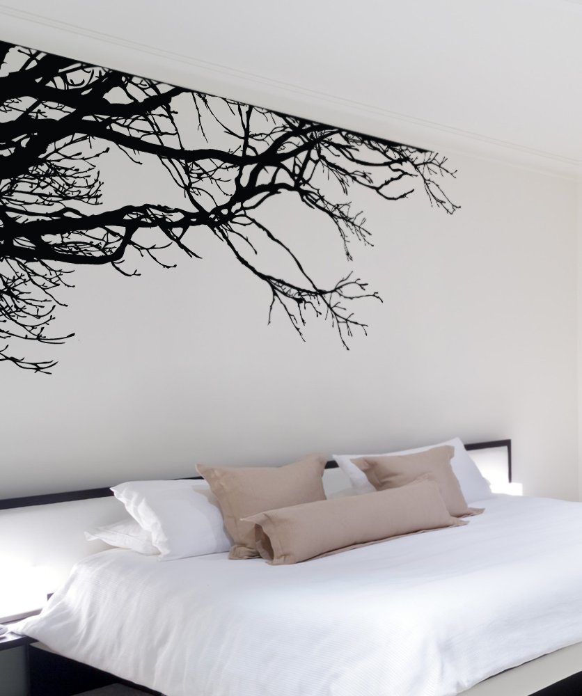 Large Tree Wall Decal Sticker - Semi-Gloss Black Tree Branches, 44in Tall X 100in Wide, Left To Right. Removable, No Paint Needed, Tree Branch Wall Stencil The Easy Way. by Stickerbrand (Image #9)