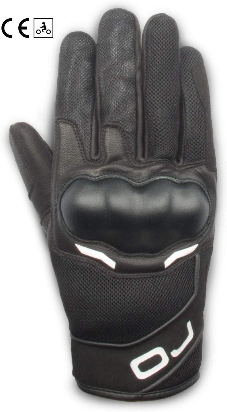 nero e bianco 3XL Guanti estivo OJ SNEAK in pelle e rete con protezioni
