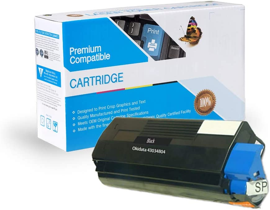 C3200 On-Site Laser Compatible Toner Replacement for Oki-Okidata 43034804 Black C3200N Works with: C3100 C3100N