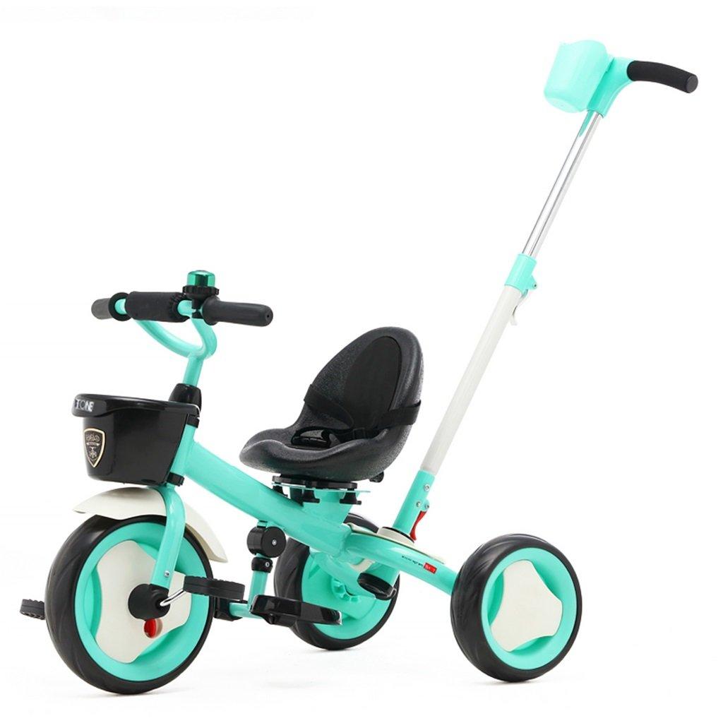 KANGR-子ども用自転車 子供用三輪車カートベビーキャリッジ子供用自転車3輪 ( 色 : 青 ) B07BTRT14V 青 青