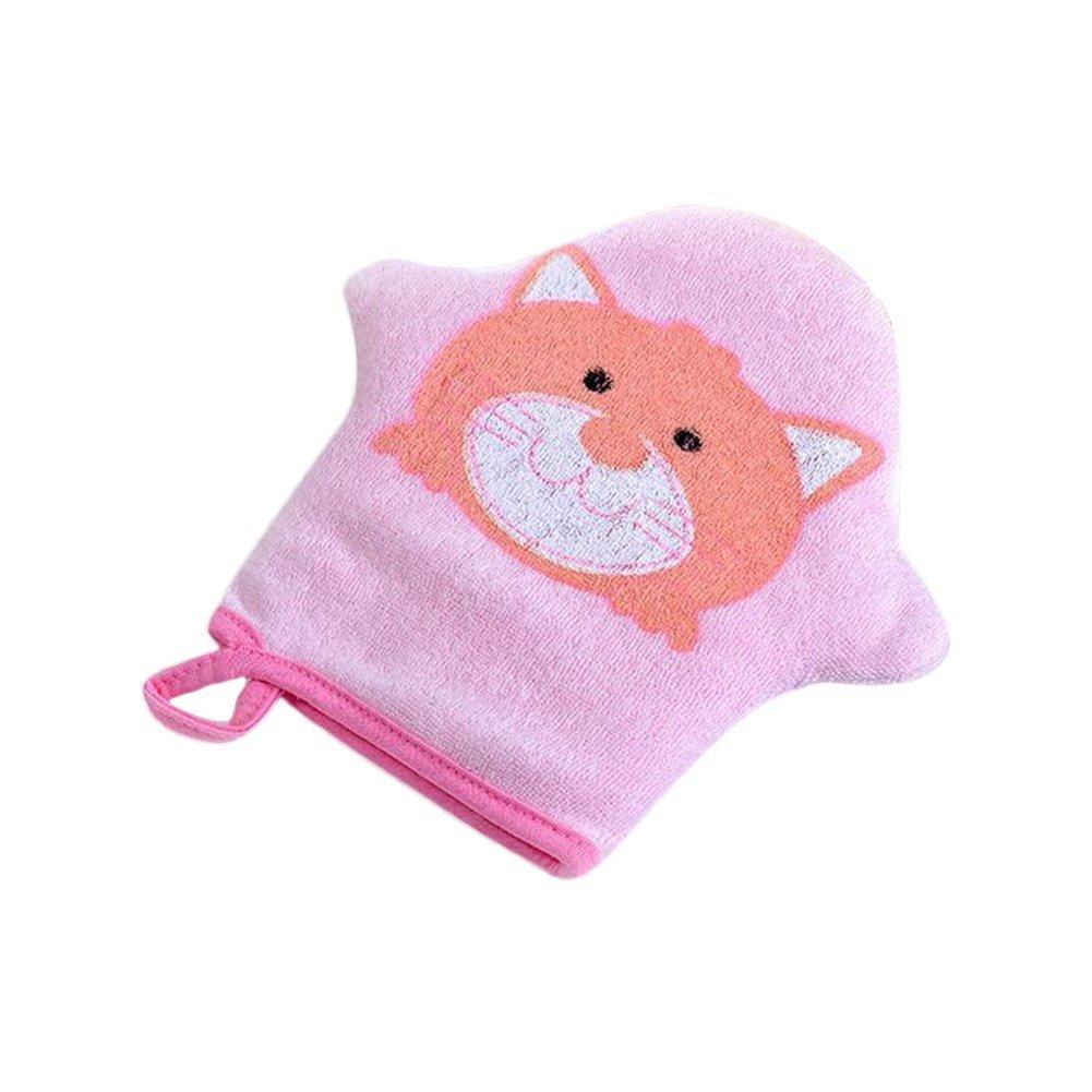 Junson Baby Animal Bath Glove Foam Sponge Shower Brush Towel Ball (Blue)