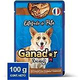 Ganador Recetas Estofado de Pato para Perros Adultos de Todas Las Razas, Azul, Paquete con 22 Piezas de 100 g c/u