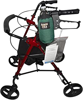 product image for Beverage Holder for Rollator,Walker,Fully Padded Holds 16 fl oz Bottle or 12 oz can Made in USA. (Green)