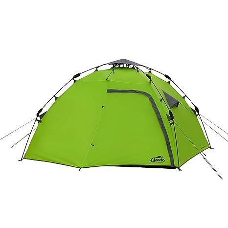 Qeedo 4 Mann Sekundenzelt Quick Maple 4, Campingzelt mit Quick Up System, Innenhöhe: 140 cm