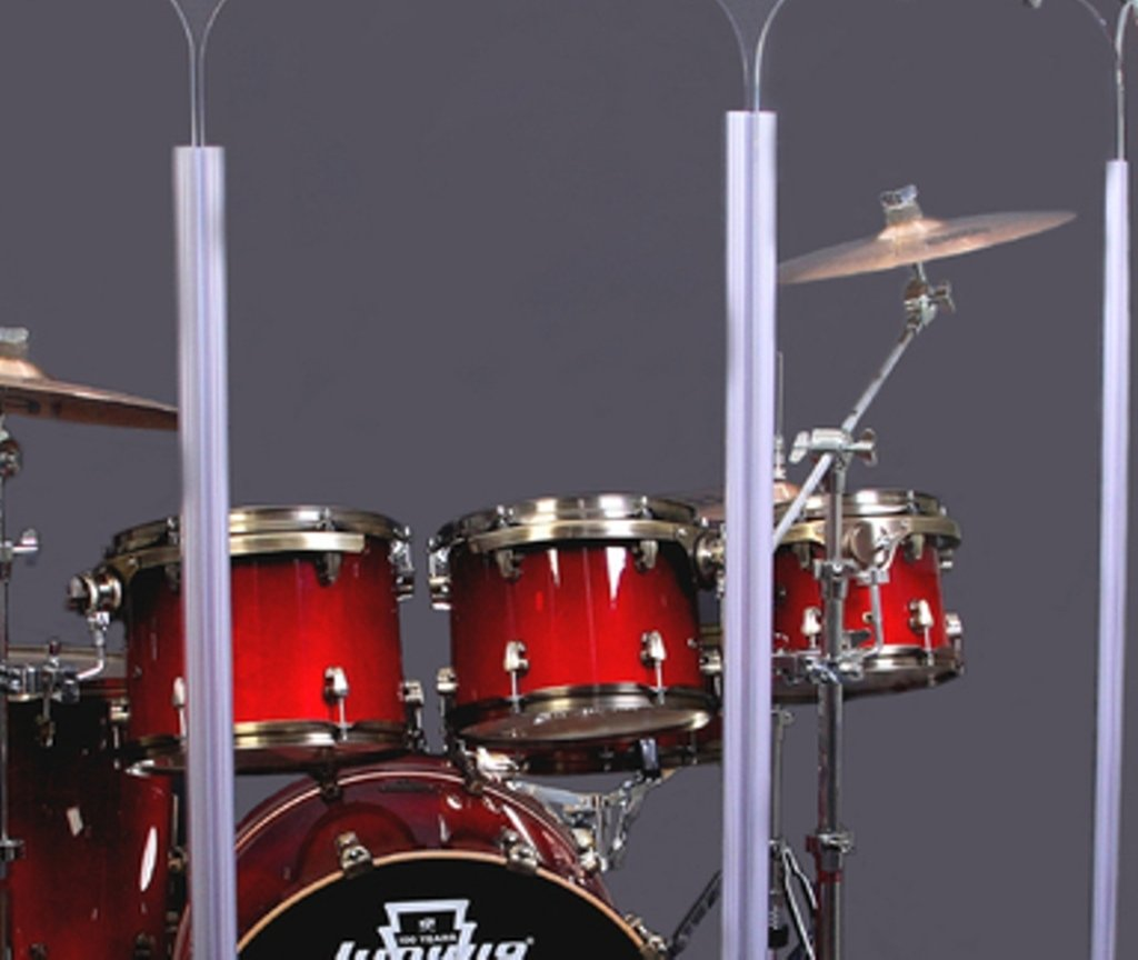 Drum Shield- DS65L Five - 2ft. x 6 ft. Panels with Plastic Full Length Living Hinges by Pennzoni Display (Image #2)