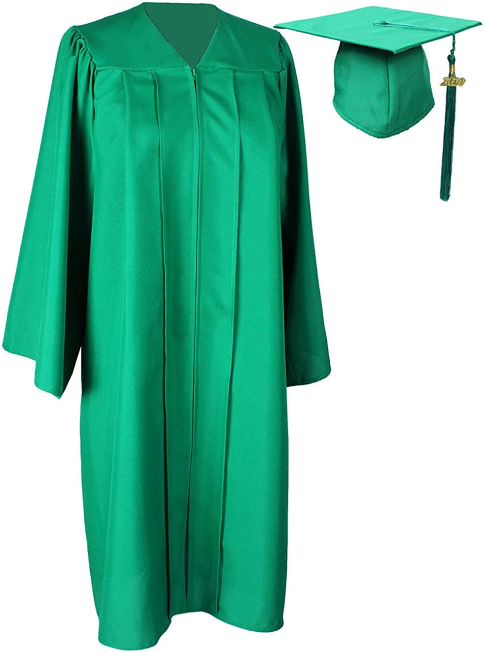 HEPNA Uniforms Graduation Cap Tassel for Graduation Photo,Emerald Green//White 2020 Update