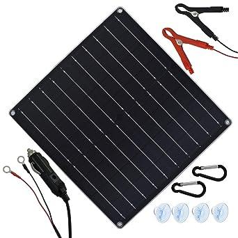 TP-solar 20W 12V Pannelli Solari Pannello Solare per Auto Barca pile mantenitore di carica automaticoPer il mantenimento della carica di batterie da moto o altri batterie di veicoli