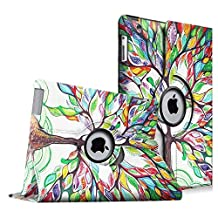Fintie Apple iPad 2/3/4 Case - 360 Degree Rotating Stand Smart Case Cover for iPad with Retina Display (iPad 4th Generation), the new iPad 3 & iPad 2 (Automatic Wake/Sleep Feature), Love Tree