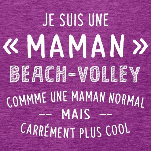 une maman normal beachvolley - Femme T-Shirt - Violet - XL