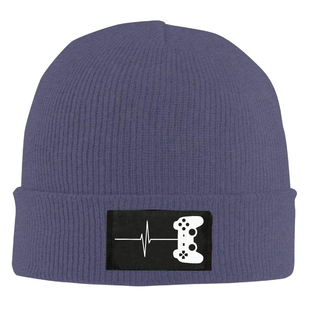 DLOAHJZH-Q Adult Unisex Heartbeat of A Gamer Driver Knitted Hat