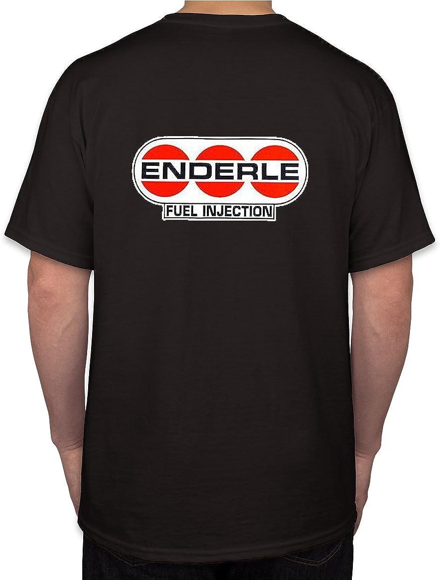 Trooperbay Enderle Fuel Injection Hot Rod Rat Nostalgia Drag Race Racing NHRA Black Short Sleeve Shirt