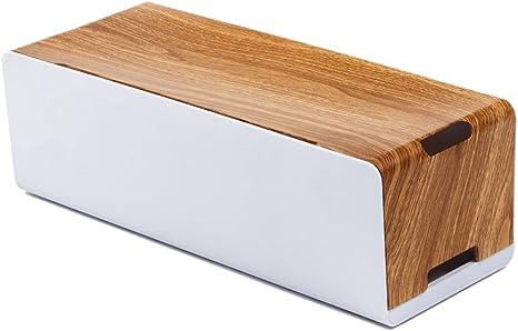 Dunhil nuevo estilo de madera caja de gestión de Cable organizador, ocultar todos los cables eléctricos tiras de alimentación, tiras, limitador de tensión, para escritorio TV ordenador oficina en casa: Amazon.es: Electrónica