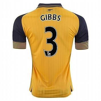 2016 2017 Arsenal FC camiseta de 3 Kieran Gibbs Away fútbol fútbol Jersey de flores en