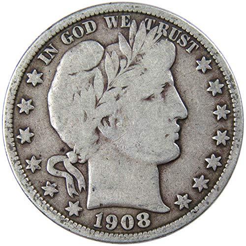 1908-O 50c Barber Silver Half Dollar VG Very Good