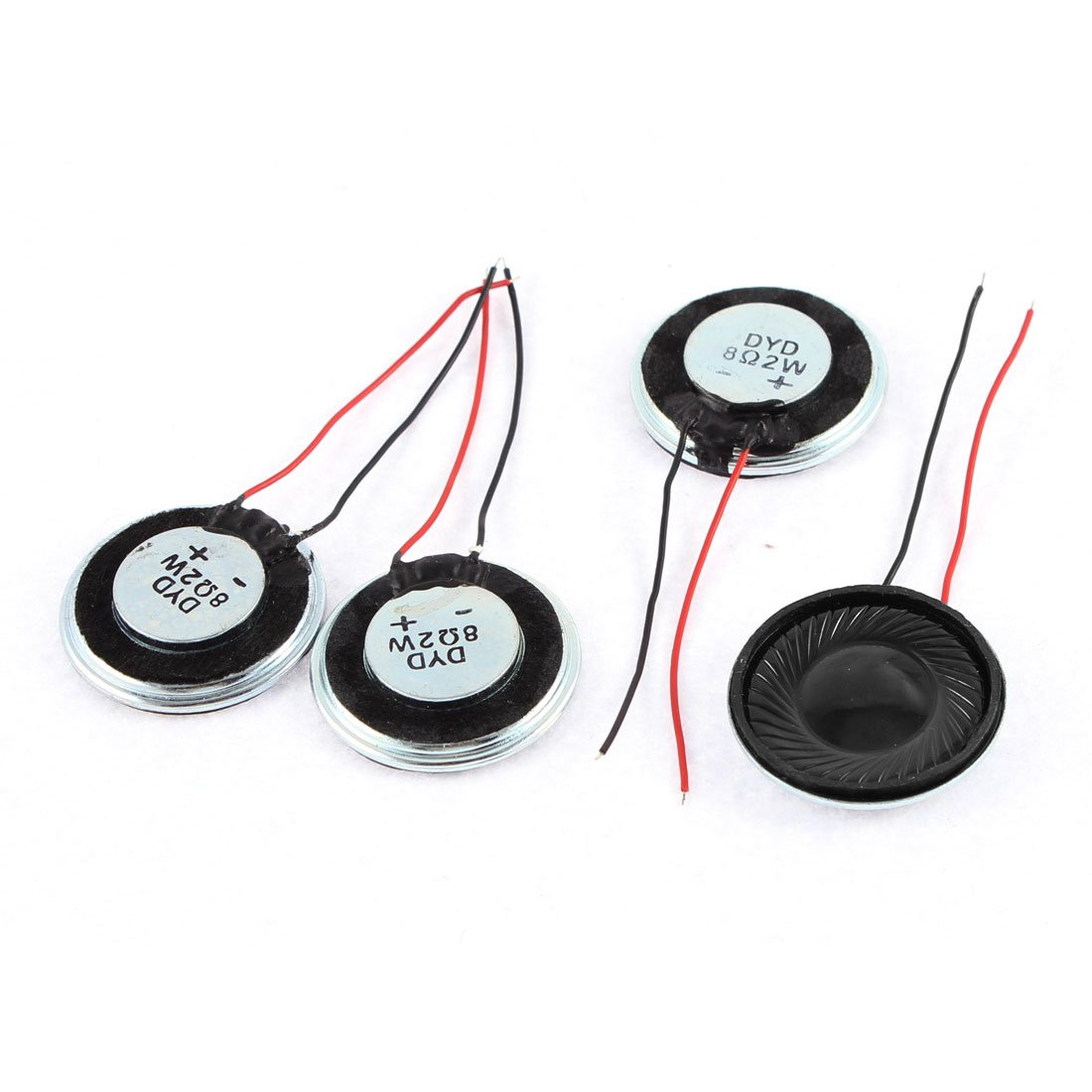 sourcingmap/® Metal Shell Round Internal Magent Speaker 2W 8 Ohm 4Pcs