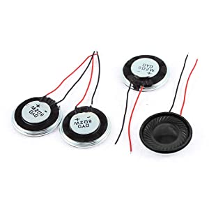 uxcell a15080600ux0275 Metal Shell Round Internal Magnet Speaker 2W 8 Ohm Pack of 4