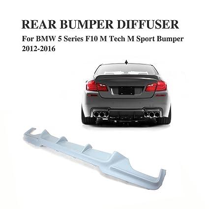 Amazon.com: Jcsportline Rear Diffuser fits BMW 5 Series 530i 550i F10 M-sport bumper 2012-2016 (Gray): Automotive
