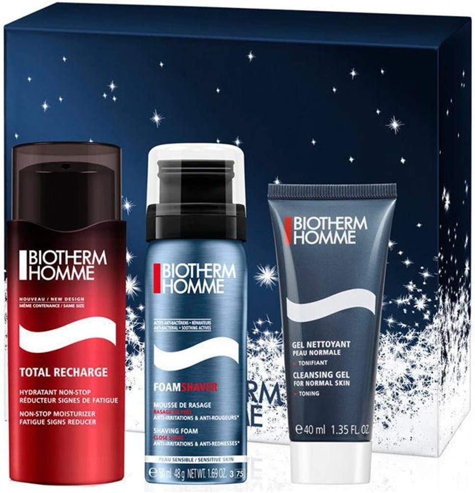 Biotherm Homme Total Recharge Xmas 2018 Set Total Recharge Con S/F Con Cleansing Face Gel 330 g