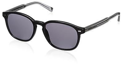14a4ea10f8 Amazon.com: Ermenegildo Zegna EZ0005-05A Sunglasses Black Frame w ...