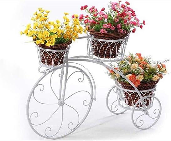Soportes Puesto De Flores Bicicleta Cafetería Boda Exterior Jardín Interior Balcón Jardinera Escalera Soporte De Almacenamiento Tingting (Color : Blanco, Tamaño : 83 * 24 * 55cm): Amazon.es: Hogar