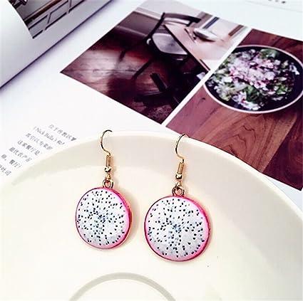 94689b52c6d03 Creative Fruit Earrings Pineapple Small Fresh Stud Summer Pop  Earrings,Pitaya