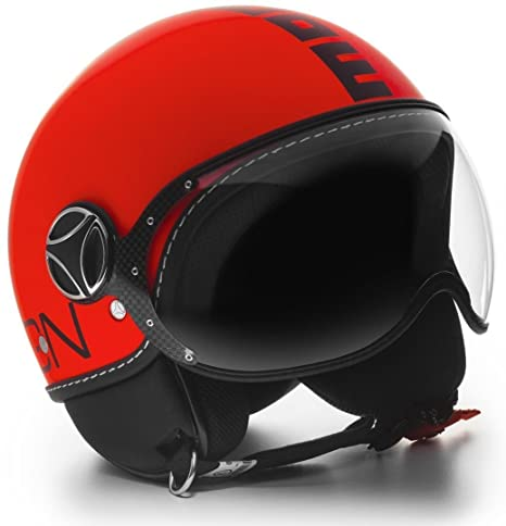 Momo Design - Casco Demi Jet Fighter, color naranja y negro XL negro