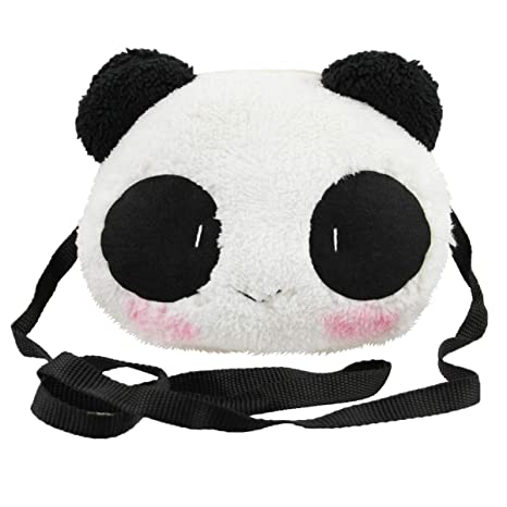 df18b58ed36c Amazon.com  Little Girls Purse Cute Plush Panda Crossbody Travel Bag  Cellphone Coins Wallet Bag Fashion Xmas Gift  Clobeau