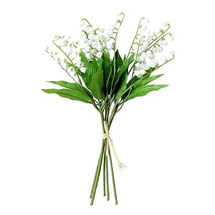 Amazon 6PCS Artificial Lily Of The Valley Flowers Arrangement Bundle For Wedding Bouquet Home Decor Garden Decoration White