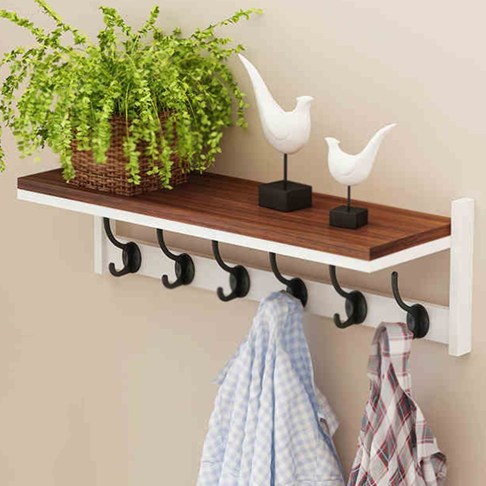 3 DQMSB Hanger Wall Hanging On The Wall Versatile Simple and Modern Entrance Wall Shelf Entrance Shelf Exquisite and Elegant Strong and Durable Environmentally Friendly and Tasteless Coat Racks