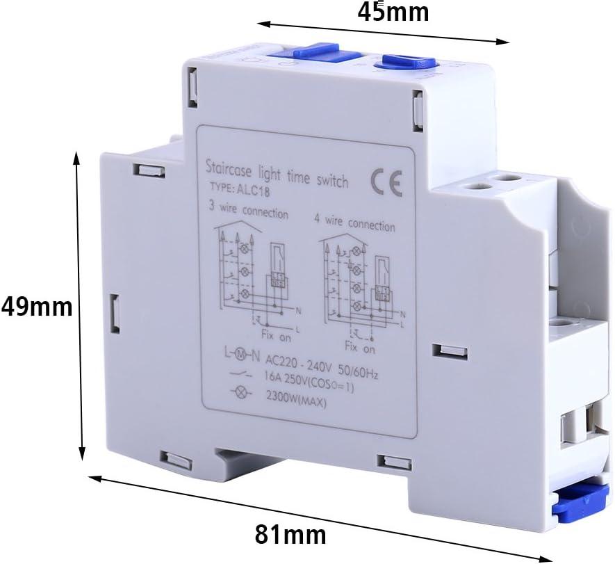 Electrodom/ésticos mec/ánicos Escalera Interruptor de tiempo de rel/é electr/ónico Temporizador de pasillo para el hogar AC 220-240V