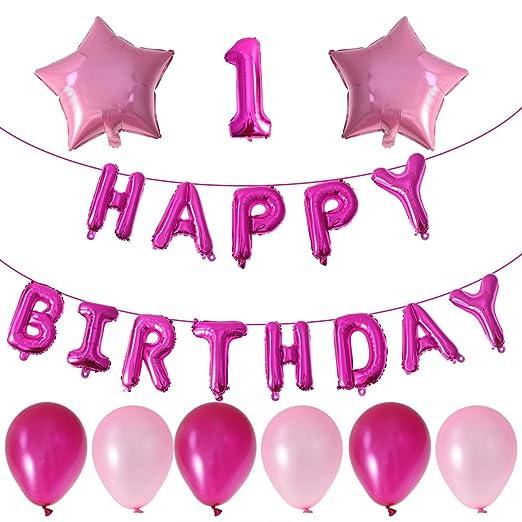 Toyvian Baby 1st Birthday Balloon Set Happy Bithday Balloon ...